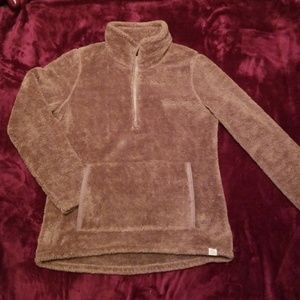 LL Bean fleece half zip pullover
